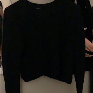 navy crop top sweater